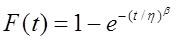 formula weibull