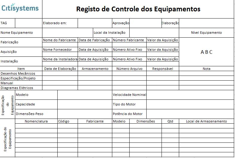 equipamentos cadastro