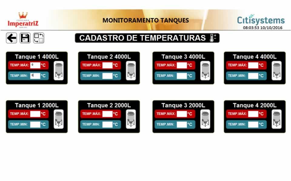 supervisorio definicao de temperaturas