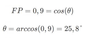 fator de potência ângulo de defasagem fator de potencia angulo de defasagem 300x133