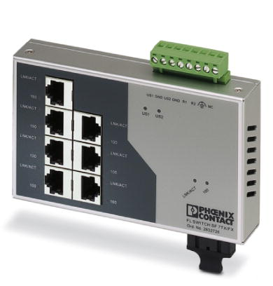 Switch-Industrial-Não-Gerenciável-FL-SWITCH-SF-7TX-FX-Phoenix-Contact-2832726.jpg Switch Industrial N  o Gerenci  vel FL SWITCH SF 7TX FX Phoenix Contact 2832726