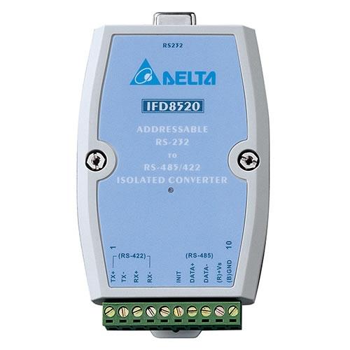Conversor Serial Modbus Delta de RS232 para RS485-IFD8520