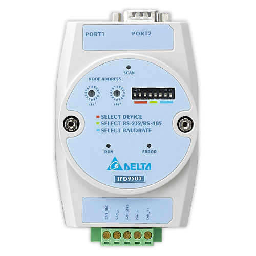 Conversor de Rede Delta de CANopen para Modbus-IFD9503