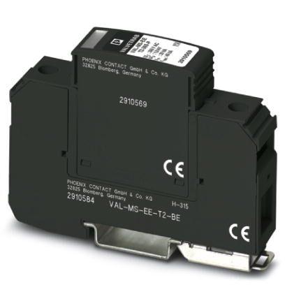 Protetor de Surto Tipo II 1 Fase TN-C (PE e N Junto) Phoenix Contact-2910565.jpg Protetor de Surto Tipo II 1 Fase TN C PE e N Junto Phoenix Contact 2910565