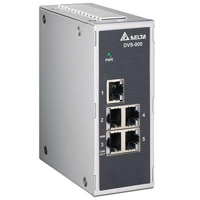 Switch Industrial Não Gerenciável DVS-005I00 Delta-DVS-005I00.jpg