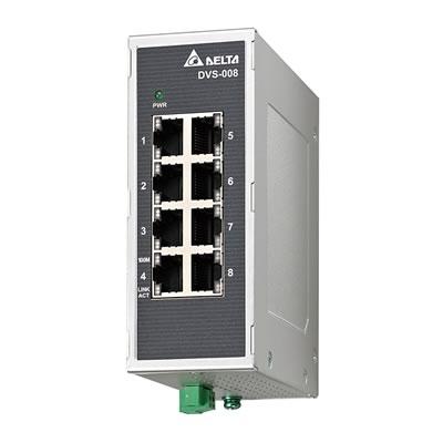 Switch Industrial Não Gerenciável DVS-008I00 Delta-DVS-008I00.jpg Switch Industrial N  o Gerenci  vel DVS 008I00 Delta DVS 008I00